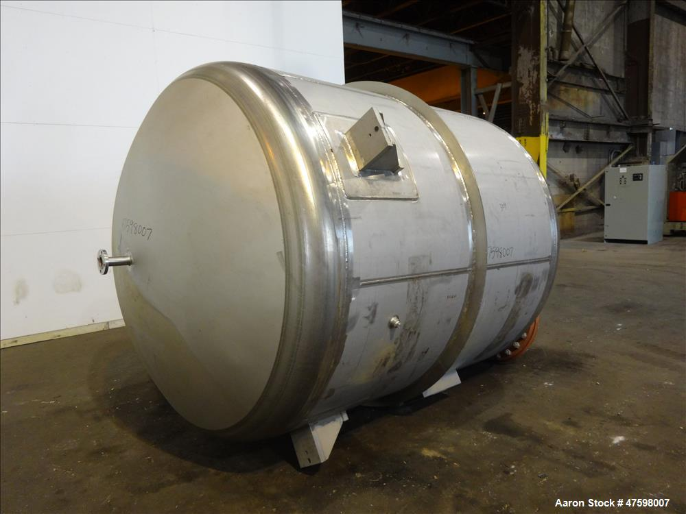 Unused- Crown Iron Works Pressure Tank, 2100 Gallon, 304L Stainless Steel, Verti