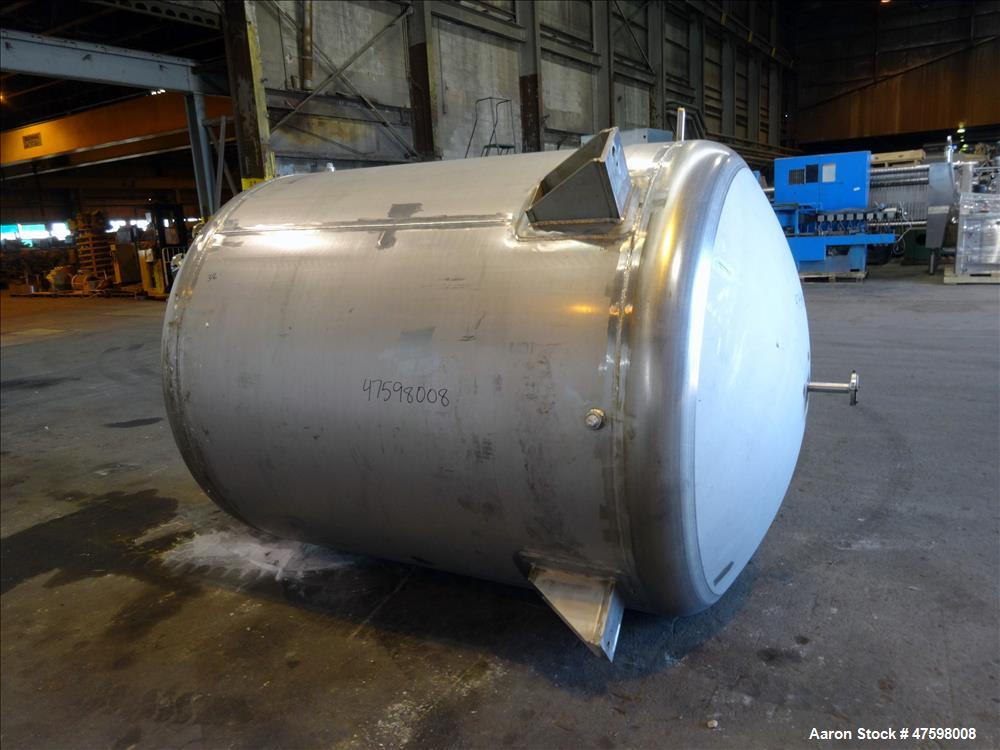 Unused- Crown Iron Works Pressure Tank, 1100 Gallon, 316L Stainless Steel, Verti