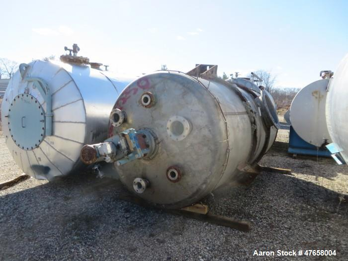 "Used- Toledo Tank, Approximately 2,600 Gallon, 304 Stainless Steel, Vertical. Approximate 72"" diameter x 135"" straight side...."