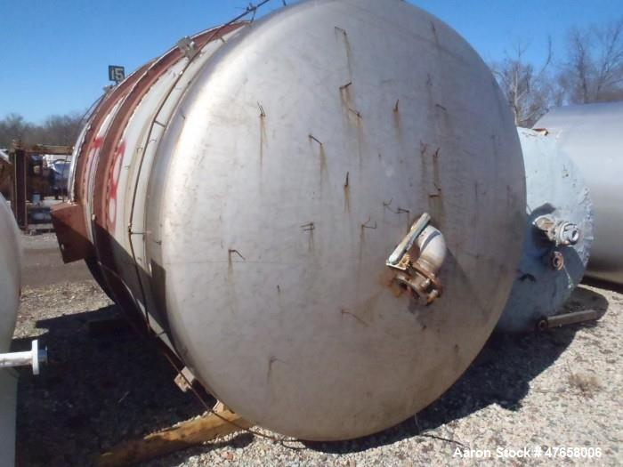 "Used- Falco Tank, Approximately 2,500 Gallon, 304 Stainless Steel, Vertical. Approximate 89"" diameter x 138"" straight side. ..."