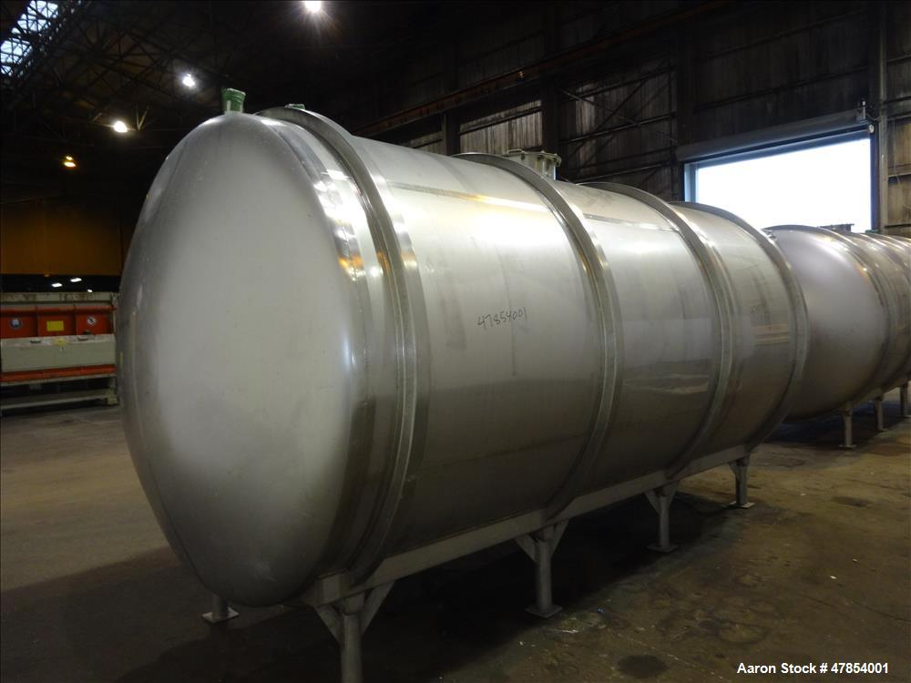 Used- Walker Tank, Model SSHHT, 4,500 Gallon, 304 Stainless steel. Horizontal