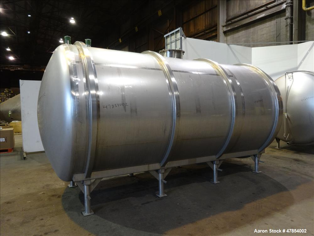 Used- Walker Tank, Model SSHHT, 4,500 Gallon, 304 Stainless steel. Horizontal.