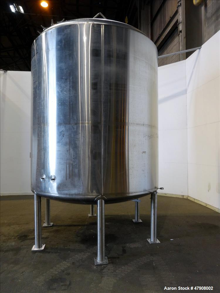 Used- Feldmeier Tank, Approximate 3,300 gallon, 316L Stainless Steel, Vertical.