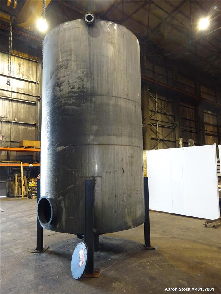 """Used- Tank, 4,000 Gallon, 304 Stainless steel, Vertical. Approximate 89"""" diameter x 155"""" straight side, flat top, cone botto..."""