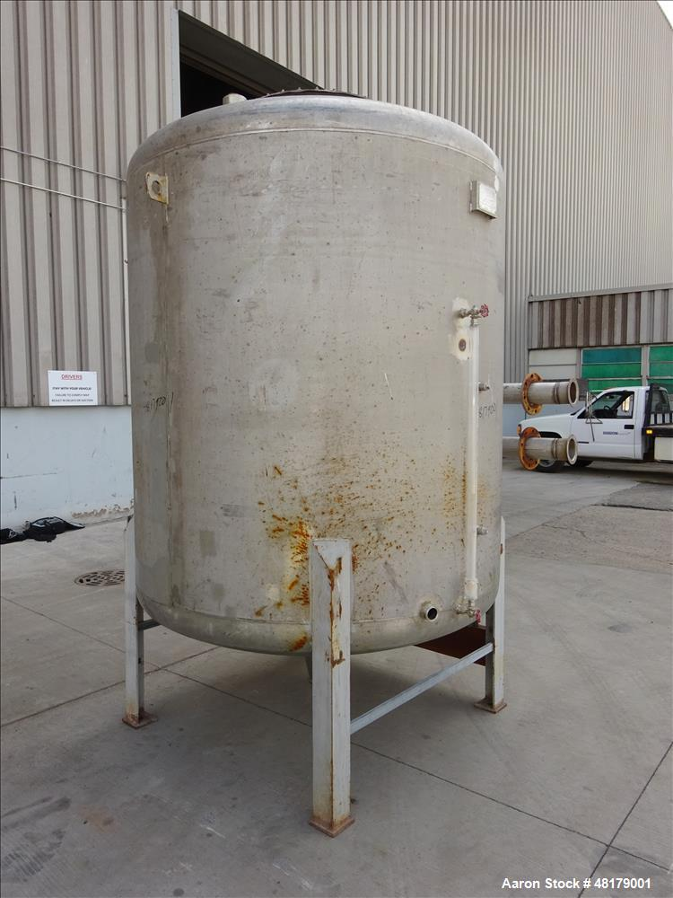 Used- Komline-Sanderson Tank, Approximate 1500 Gallon, 316 Stainless Steel, Vert
