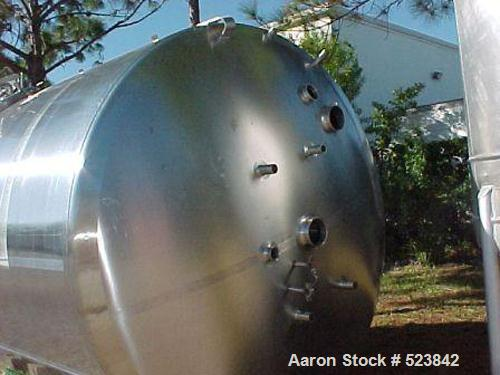 USED: DCI tank, 3,300 gallon, 304 stainless steel, vertical.         Insulated with stainless steel sheathing, 150 grit fini...