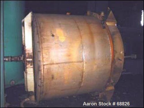 Used- Stainless steel tank, 2900 gallon, 8' diameter x 7' straight side. Flat top with bolted on cover, flat bottom, top ent...
