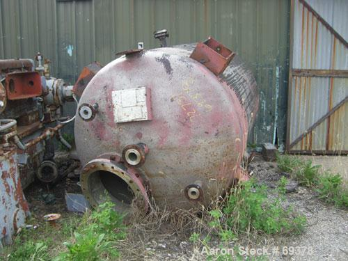 "Used- Mitternight Boiler Works Pressure Tank, 1136 Gallon, 304 Stainless Steel, Vertical. 60"" diameter x 81"" straight side, ..."