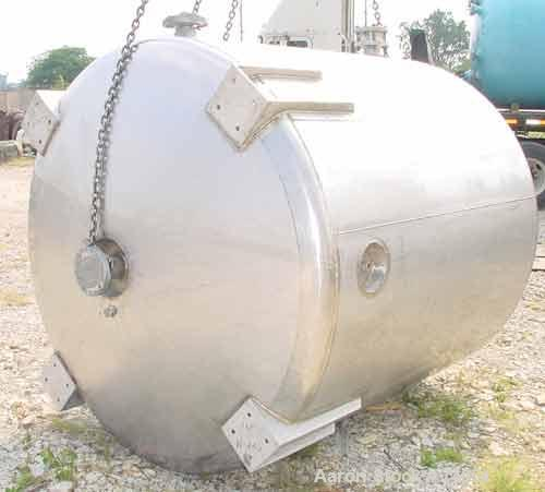 "USED:Apache stainless pressure tank, 1000 gallon, 316 stainless steel, vertical. 66"" diameter x 64"" straight side. Dished to..."