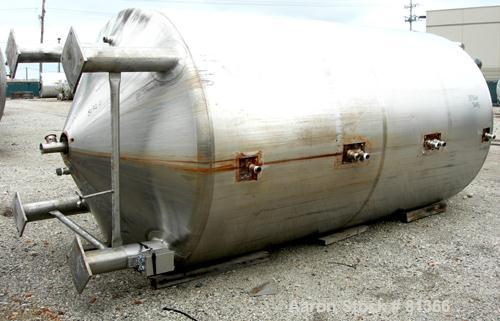 USED:Stainless Fabrication Inc double motion mix tank, 4000 gallon, 316L stainless steel, vertical. 7' diameter x 13' straig...