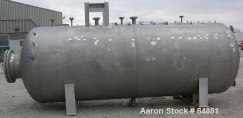 "Unused- Fabwell Pressure Tank, 3456 gallon, 304L stainless steel, horizontal. 72"" diameter x 174"" straight side. Dished head..."