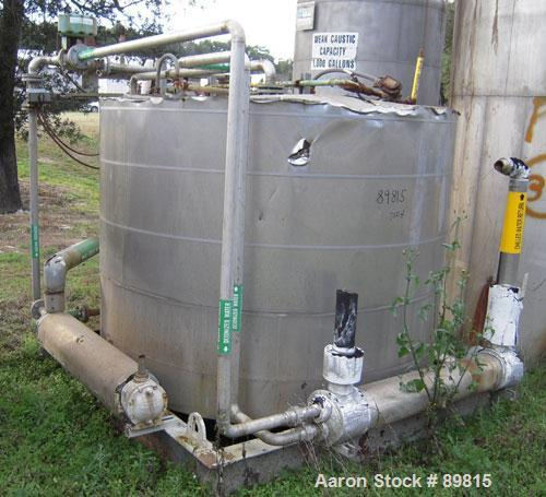 USED: Approximate 1000 gallon stainless steel tank. Approximately 6' diameter x 5' straight side. Flat top and bottom, insul...