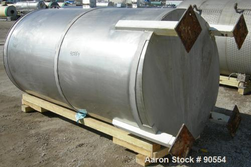 "USED:  Approx. 1400 gallon tank, 316 stainless steel, vertical.  60"" diameter x 114"" straight side.  Flat top with hinged co..."