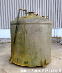Used- Chicago Boiler, Approximate 1,000 Gallon, 304 Stainless Steel, Vertical.