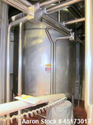 "A & B Process Systems Stainless Steel Tank, approximately 3000 gallon.  80"" diameter x 12' straight ..."