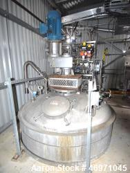 "Used- Tank, Approximate 2300 Gallons, Stainless Steel, Vertical. Approximate 78"" diameter x 108"" straight side, dished top a..."