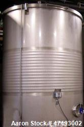 10,000L Stainless Steel Tank. Jacketed, sloped bottom, man-hole on top, racking door, bottom man-ho...