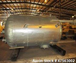 "d- Tank, 2,150 Gallon. 304L stainless steel. 6 diameter x 7 11"" high, vertical, dished heads. Intern..."