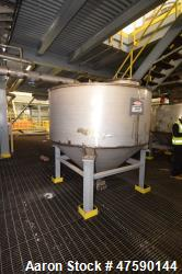 """d- Outotec Air Release Tank, Approximate 1,339 Gallon, 316 Stainless Steel, Vertical. 86-5/8"""" Diamet..."""