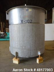 Used- Perma-San Jacketed Mix Tank, 2,500 Gallon, 304 Stainless Steel, Vertical.