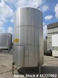 Used- Stainless Steel Metals Inc. Tank, Approximately 4,000 Gallon, 316 Stainles