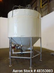 Used- Tank, Approximately 1,700 Gallon, 304 Stainless Steel, Vertical.