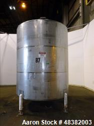 "Tank, 3,000 Gallons, 304 Stainless Steel, Vertical. Approximate 92"" diameter x 108"" straight side, ..."