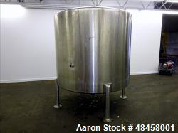 Used- Lee Industries Tank, 1000 Gallon 316 Stainless Steel, Vertical.