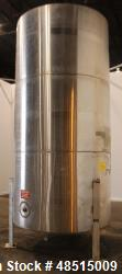 Used- Tank, Approximately 2,300 gallon, 304 Stainless Steel, Vertical.