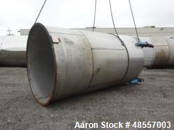 Used-ARECO Tank, 4,000 Gallon, 304 Stainless steel, 8' diameter x 12' straight side.  1/3 Jacket rated 45 psi @ 250 deg F.  ...