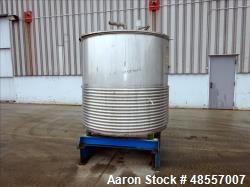 Used-Paul Mueller Tank, Approximately 500 Gallon, Stainless Steel, 5' diameter x 5' straght side. With Panel Jacket.  Flat t...