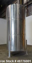Used- Precision Tank & Equipment Tank, Approximately 2,200 Gallon, 304 Stainless