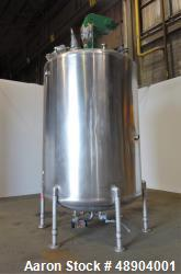 Used- Perma San Cooker/Cooler Jacketed Tank, 3000 Gallon, Stainless Steel, Verti