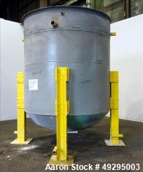 Used- Tank, Approximate 3,000 Gallon, 304 Stainless Steel, Vertical.