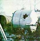 USED:Alloy Fab Inc pressure tank, 304 SS, 4000 gallon, vertical.9' dia x 6'2
