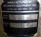 Unused- Feldmeier Tank, 3000 Gallon, 316 Stainless Steel, Vertical. Approximate 96