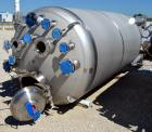 Unused- Stainless Fabrication Pressure Tank, 1500 Gallon, 316L Stainless Steel, Vertical. Approximate 64