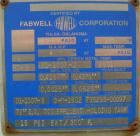 Unused- Fabwell Pressure Tank, 3456 gallon, 304L stainless steel, horizontal. 72