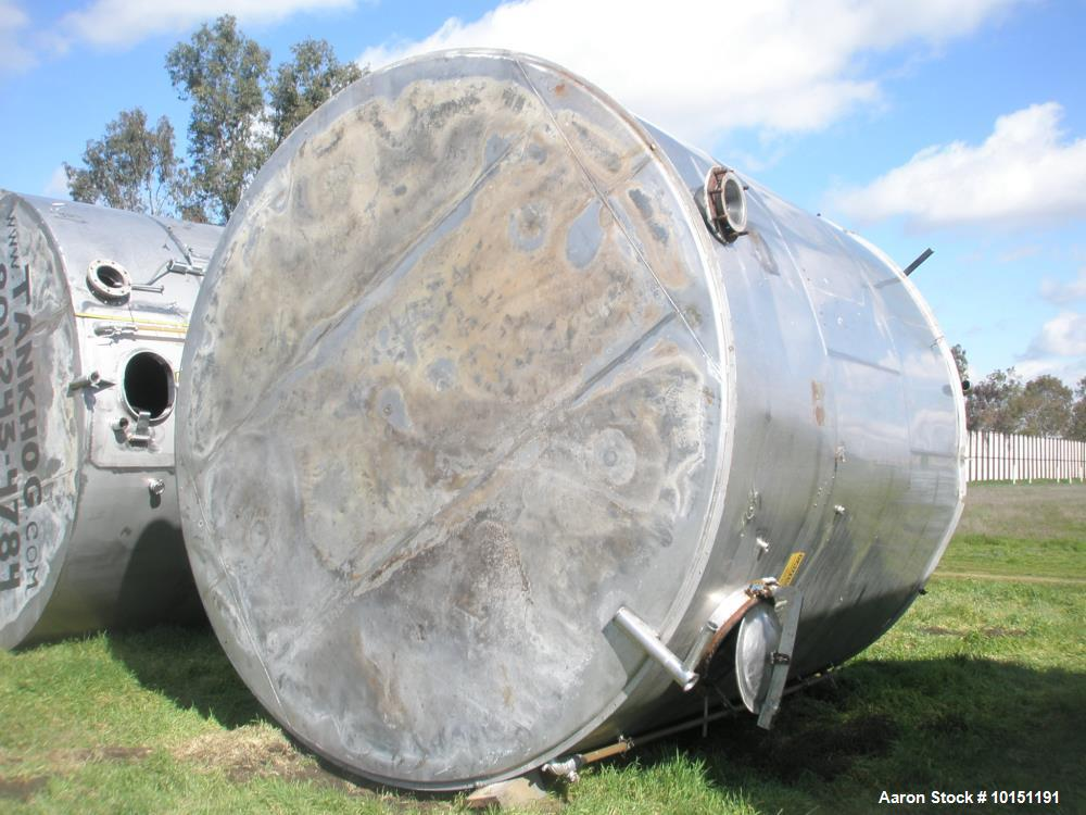 Used- 10,000 Gallon Stainless Steel Vertical Agitated Tank