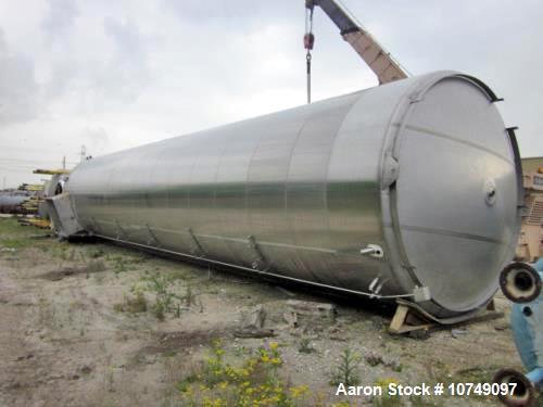 Used- Walker 40,000 Gallon Sanitary Tank. 304 stainless steel