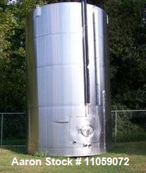 "Used- Used- 17,000 Gallon (approximately) Feldmeier Stainless Steel Tank. Slant bottom, cone top. 12' 6"" diameter x 22' high."