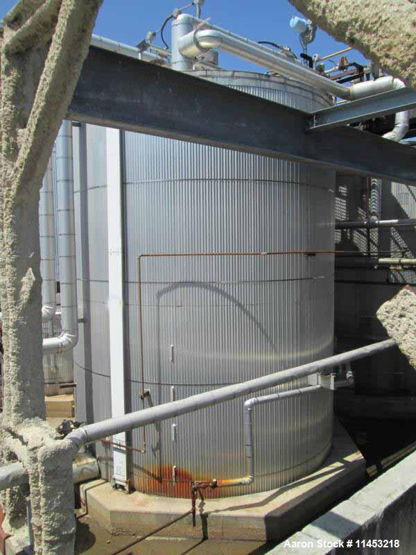 Used- 12,500 Gallon Stainless Steel Lake Nordic Mine Co. Storage Tank