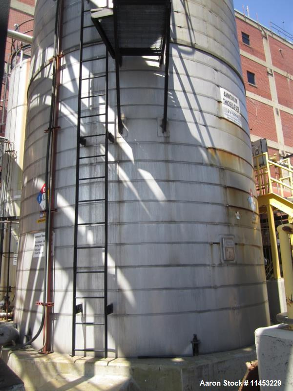 "Used- 40,000 Gallon Enerfab Storage Tank. 304L stainless steel construction. Approximately 15' diameter x 30'8"" straight sid..."