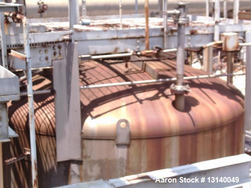 "Used- Capital City Iron Works, Approximately 16,000 Gallon, 304 Stainless Steel Pressure Tank. 12 diameter x 19-3"" high stra..."