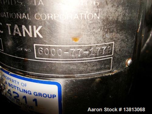 "Used-Cherry Burrell 6,000 Gallon Vertical Storage Tank. 9'3"" diameter x 11'6"" straight side, 15'6"" overall height. 6 Stainle..."