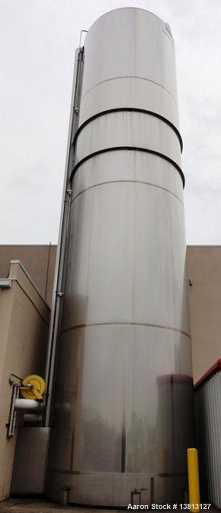 Used-Walker Stainless 47,500 Gallon Stainless Steel Silo, Model VSHT/304SS.  Built in 2002.  Single wall stainless steel alc...