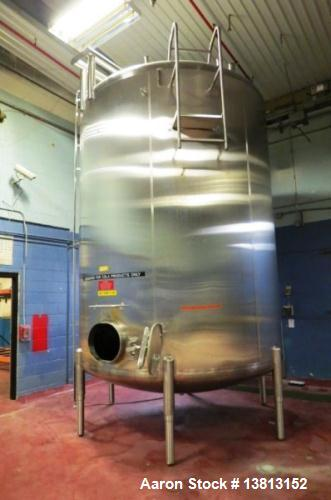 Used- 8000 Gallon Stainless Steel Cherry Burrell Top Agitated Mix Tank.