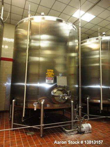 Used- Feldmeier Tank, 6,000 Gallon, Stainless Single, Vertical.