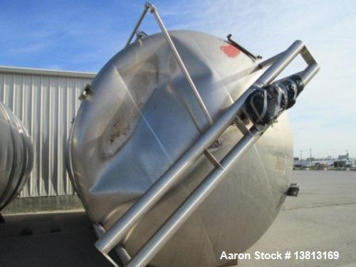Used- 15,000 Gallon Cherry Burrell Agitated Tank. All stainless steel with top mounted ggitator. Flat bottom, dish top, 20'4...