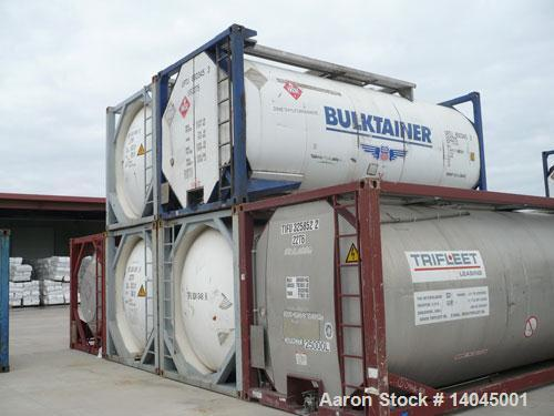 "Used- Single Compartment Insulated ISO Tank Container, 6600 Gallon, 316 Stainless Steel, Horizontal. Approximately 7'7"" diam..."